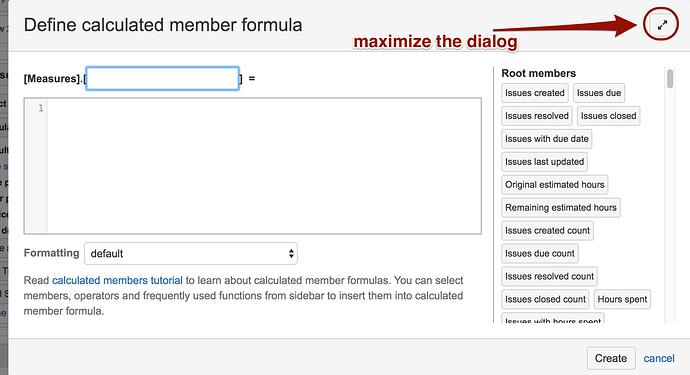 maximize the dialog