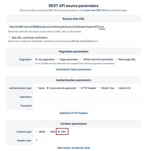 eazyBI import CSV through REST API