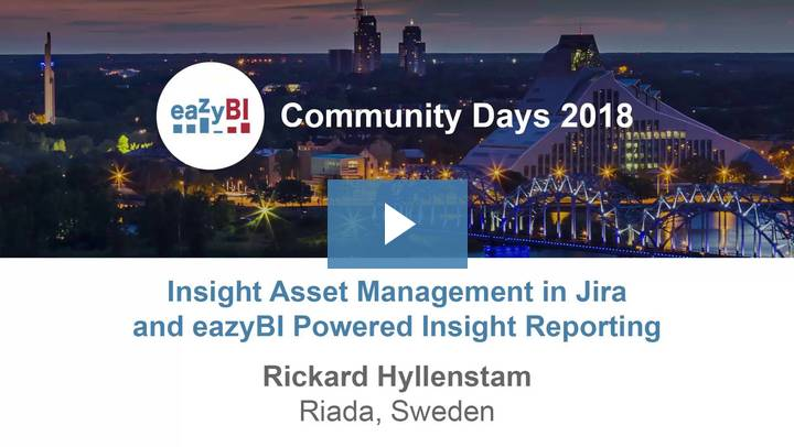 3-Insight Asset Management in Jira and eazyBI Powered Insight Reporting by Rickard Hyllenstam, Riada