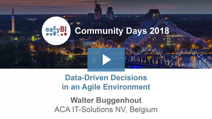 5-Data Driven Decisions in an Agile Environment by Walter Buggenhout, ACA IT-Solutions NV