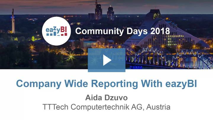 2-Company Wide Reporting With eazyBI by Aida Dzuvo, TTTech Computertechnik-AG