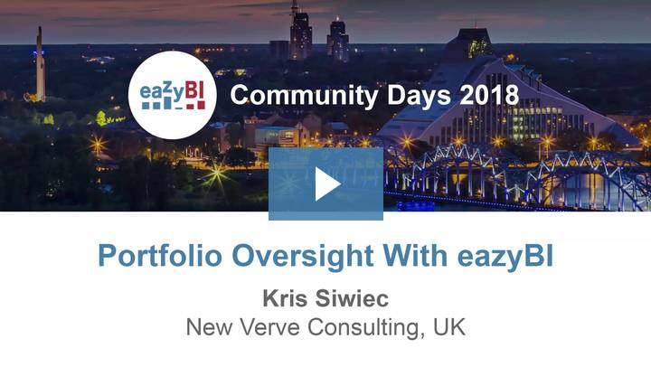 10-Portfolio Oversight With eazyBI by Kris Siwiec, New Verve Consulting