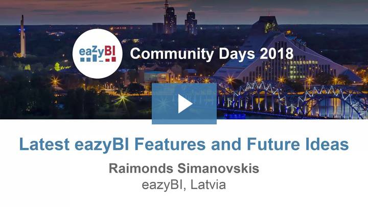 6-Latest eazyBI Features and Future Ideas by Raimonds Simanovskis, eazyBI