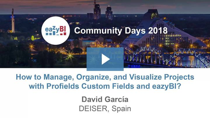 7-How to Manage Organize and Visualize You Projects With Profields Custom Fields and eazyBI by David García, DEISER
