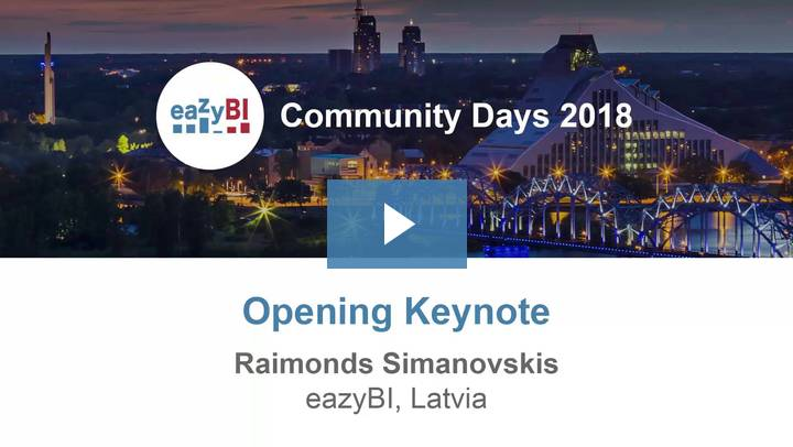 1-Opening Keynote by Raimonds Simanovskis, eazyBI